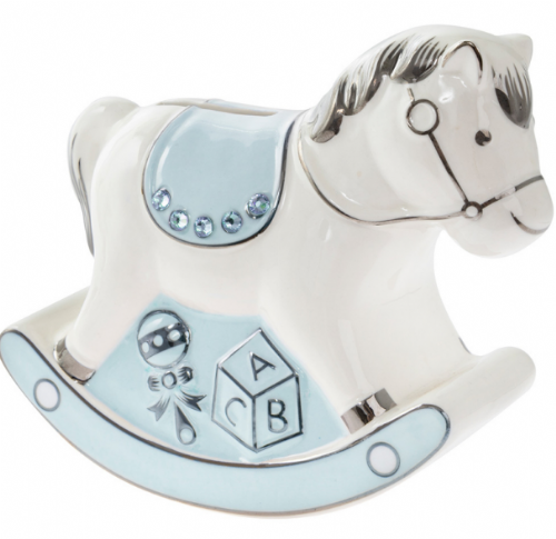 Rocking Horse Money Bank Blue